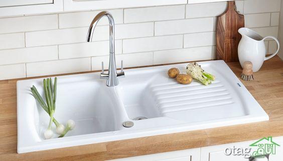 مدل های جدید سینک ظرفشویی سفید در انواع سرامیکی و استیل